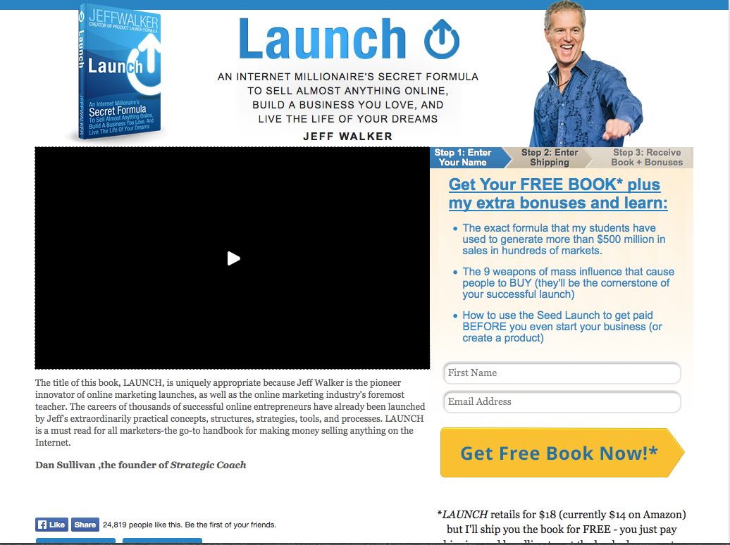 How to launch a book online 6 lessons from jeff walker marketing for the sake of time im not going to dive into all the marketing tactics used in the video found on this page instead im going to focus on the written malvernweather Choice Image