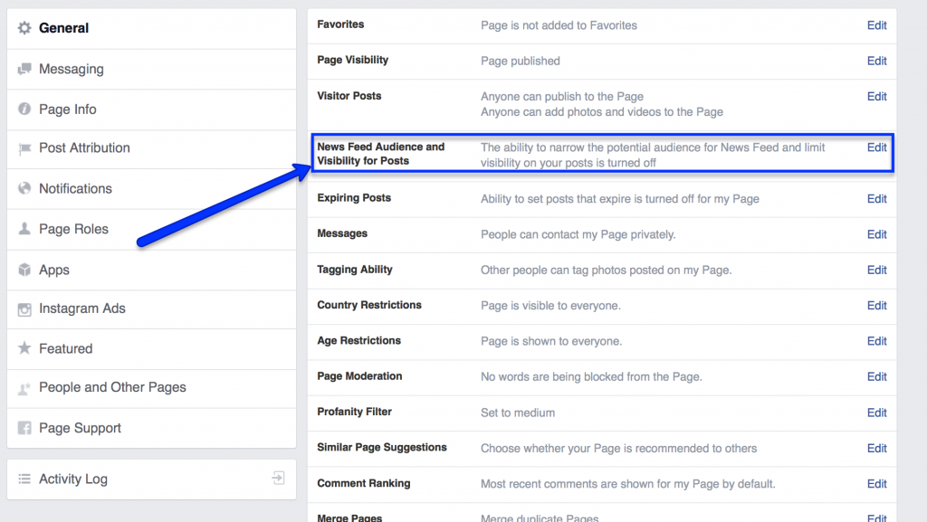 organic facebook posts targeting